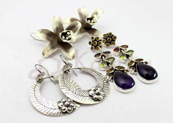 Sterling Silver with Precious  Semi Precious Stones