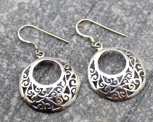 Round Filigree Silver earrings