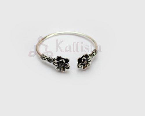 Silver Layered flower bracelet