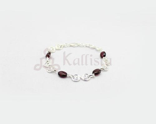 Symphony stone Silver bracelet collection- Garnet