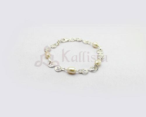 Symphony stone Silver bracelet collection-Pearl