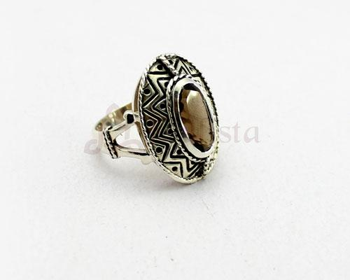 Mandana ring collection- Smoky Quartz