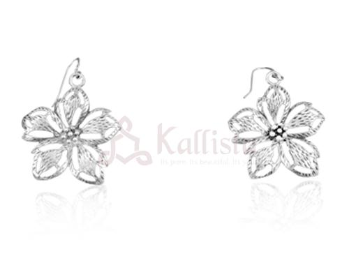 Periwinkle Silver earrings