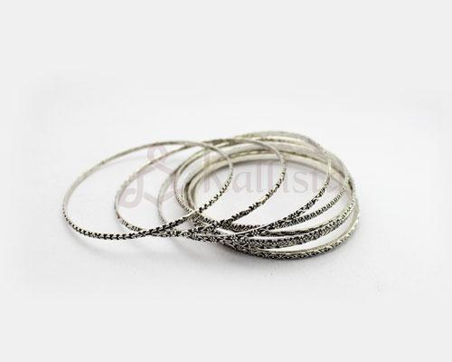 Engraved Silver bangle collection